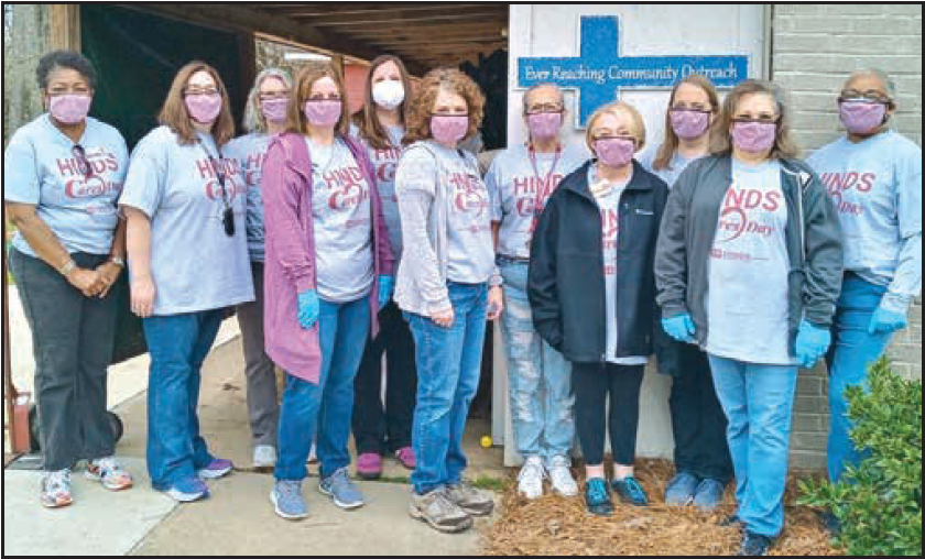 Hinds Community College volunteers at ERCO
